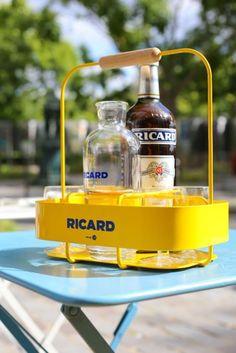 2524dc7cfd Coffret Ricard Bouteille, 1 Panier, 6 verres ballons et Carafe Mathieu  Lehanneur eBoutique Ricard