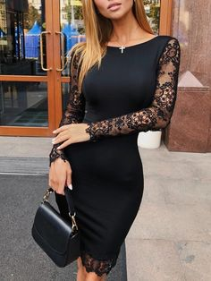 Shop Hollow Out Lace Splicing Bodycon Dress – Discover sexy women fashion at I… Shop – Hollow Out, Lace, Lace Dress, Bodycon Dress Elegant Dresses, Sexy Dresses, Fashion Dresses, Graduation Dresses, Homecoming Dresses, Graduation Ideas, Black Women Fashion, Womens Fashion, Ladies Fashion