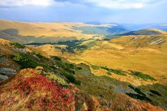 The Transalpina or DN67C located in the Parâng Mountains group, in the Southern Carpathians of Romania, is one of the most spectacular roads of the Carpathian Mountains. It connects Novaci, south of Parâng Mountains, to Sebeş in the north.