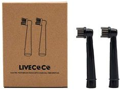 LiveCoco Oral-B Electric Toothbrush Replacement Brush Heads Refill with Charcoal Fibre Bristles, Created for Teeth Whitening with Activated Charcoal Powder, Recyclable Body Charcoal Teeth Whitening, Natural Teeth Whitening, Chalk Marker, Make Up Anleitung, Dental Floss, Permaculture, Hygiene, Be Kind To Yourself, Zero Waste