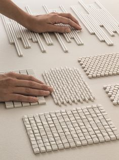 PORCELAIN STONEWARE WALL TILES PHENOMENON RAIN BIANCO PHENOMENON COLLECTION BY MUTINA | DESIGN TOKUJIN YOSHIOKA