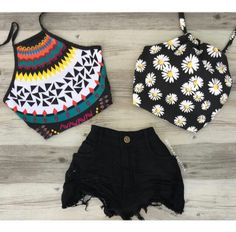 Crop Top Outfits, Short Outfits, Casual Outfits, Teenager Outfits, Girl Outfits, Fashion Outfits, Tumblr Outfits, Grunge Outfits, Cute Summer Outfits