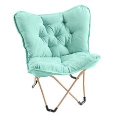 Simple By Design Memory Foam Butterfly Chair, Turquoise/Blue (Turq/Aqua)