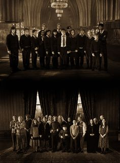 Dumbledore's Army and the Order of the Phoenix. Take a moment to notice Remus Lupin's SUPERMEGAAWESOMEFOXYHOT hair.
