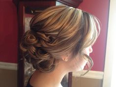 Soft bridesmaids updo. By Callie Lathan