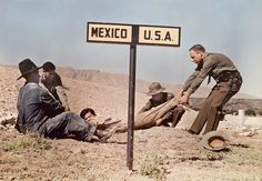 Texas - Two border patrol officers attempt to keep a fugitive in the US near El Paso. My how things have changed!!