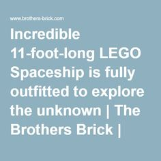 Incredible 11-foot-long LEGO Spaceship is fully outfitted to explore the unknown | The Brothers Brick | LEGO Blog
