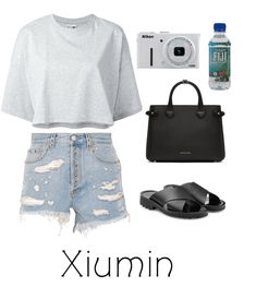 Sightseeing look for with Xiumin from the kpop group exo. Discover outfit ideas for weekend made with the shoplook outfit maker. How to wear ideas for Bartt Leather Sliders Gr. Teenager Outfits, Outfits For Teens, Summer Outfits, Girl Outfits, Kpop Fashion Outfits, Korean Outfits, Bts Inspired Outfits, Looks Vintage, Cute Casual Outfits