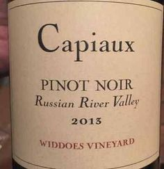 capiaux pinot noir russian river valley - Google Search