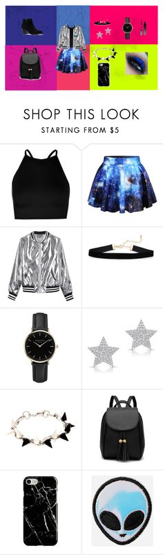 """""""my style"""" by valentina-ordaz ❤ liked on Polyvore featuring Boohoo, WithChic, Sans Souci, ROSEFIELD, Diamond Star, Joomi Lim, Recover and Serge Lutens"""