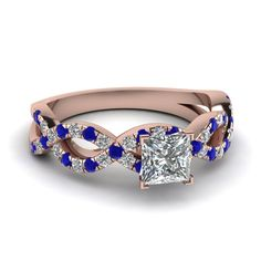Talk to an Expert - Design your own Blue Sapphire Engagement Ring at Fascinating Diamonds. Shop with  confidence.