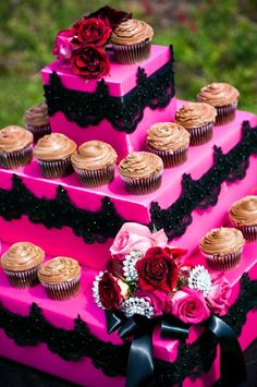 Great DIY Idea...lace detailing..Cupcake Stands Customed