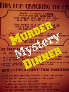 Murder Mystery Dinner located in the Cincinnati Area which is fun for a date night or night out with friends.