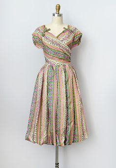 vintage 1950s silk party dress