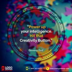 At One Logo Design we hit the Creativity button!  #creativity #design #innovation #OneLogoDesign