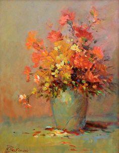 """Saatchi Art Artist Helmut Pete Beckmann; Painting, """"Flower still life, October"""" #art"""