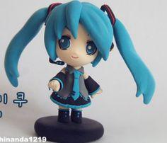 Turorial : How to make Hatsune Miku of Vocaloid polymer clay / Tutoriel : Réaliser Hatsune Miku de Vocaloid en pâte polymère autre méthode : link Rin et Len : link source : http://blog.naver.com/shinanda1219
