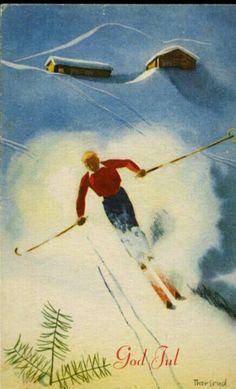 Julekort Jørgen Thorsrud Christmas Cards, Christmas Postcards, Norway, Painting, Art, Christmas E Cards, Art Background, Xmas Cards, Painting Art