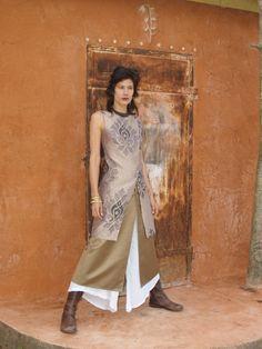 The WOMAN WARRIOR TUNIC Womens tunicEvening wearWedding by SHIHAR. $145.00, via Etsy.