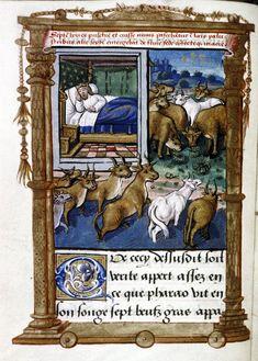 Il sogno del Faraone - Scene allegoriche (Francia, inizi del XVI secolo), Bodleian