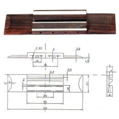 Rosewood Ukulele Bridge Slotted With Bone Saddle Hardwood 110 X 25 X 8mm | eBay
