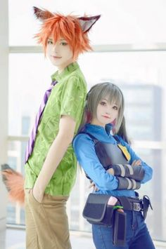 Cosplay for me and Mr. Nickerson ( Judy Hopps and Nick Wilde (Zootopia) Disney Cosplay, Anime Cosplay, Couples Cosplay, Epic Cosplay, Cute Cosplay, Cosplay Makeup, Amazing Cosplay, Cosplay Outfits, Cosplay Girls