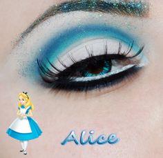 Disney Princess inspired eye makeup.