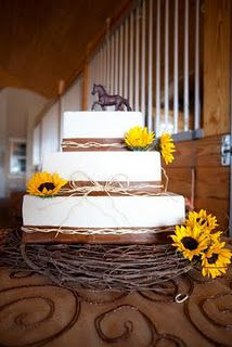Elegant horse cake...perfect for a wedding at the stables!