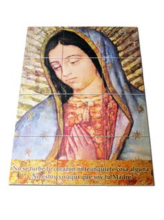 A new tile mural - The #Virgin of #Guadalupe with message to St Juan Diego is available now. Big size (cm 60 x 80) composed by 12 ceramic tile (each tile measures cm 20 x 20). Ready to hang. Suitable indoor / outdoor. In my Etsy Store: https://www.etsy.com/listing/502143402