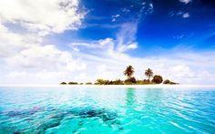 Maldives, sea, Diggiri, summer, island