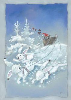 Christmas Mood, Christmas Images, Christmas 2019, Christmas Cards, Merry Christmas, Christmas Stuff, Winter Illustration, Fairy Land, Gnomes