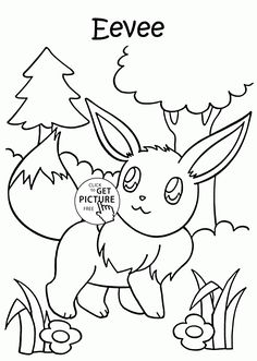 Pokemon Eevee Coloring Pages For Kids Characters Printables Free
