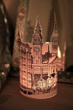 City Paper Lanterns  Set of 6 lantern 2 New by ScandinavianToys, $35.00