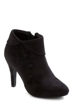 Rarely can it go wrong with the right pair of heeled bootlets -- jeans or dresses.