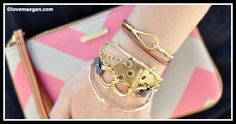 Hinge Bracelet Golden Chains - DIY Home Tutorials Diy Fashion, Fashion Trends, Piece Of Cakes, Bracelet Tutorial, Gold Chains, Diy Jewelry, Personalized Gifts, Going Out, Jewels
