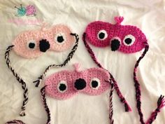Flamingo Sleep Masks - Free Pattern Friday - Bobbles and Baubles