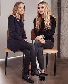 mka Mary-Kate and Ashley Olsen Mary Kate Ashley, Mary Kate Olsen, Elizabeth Olsen, Ashley Olsen Style, Olsen Twins Style, Elizabeth And James Nirvana, Olsen Fashion, Olsen Sister, Fashion Gone Rouge