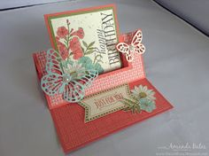 The Craft Spa - Stampin' Up! UK independent demonstrator : Fancy Fold Friday - Tutorial for Swing Easel Card