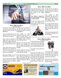 create your own newspaper template