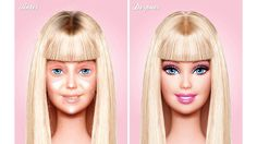 Oh, and apparently this is what Barbie would look like without any makeup