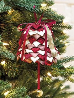 No Sew Bell Ornament Pattern | Craftsy
