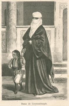 Dama de Constantinople From New York Public Library Digital Collections. Popular Costumes, Evolution Of Fashion, Classic Paintings, Folk Embroidery, Ottoman Empire, Wood Engraving, New York Public Library, Still Image, Islamic Art
