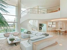 Inspiring Awesome Modern Interior Open Living Room Ideas - perfect home decor ideas Luxury Homes Dream Houses, Dream House Interior, Dream Home Design, Modern House Design, Home Interior Design, Modern Interior, My Dream Home, Modern House Styles, Mansion Interior