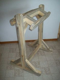 Saddle Stand with blue stain.
