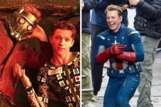 Chris Hemsworth and Mark Ruffalo wearing matching wigs. 44 Behind-The-Scenes Photos That'll Change The Way You Look At Marvel Movies Chadwick Boseman Instagram, Young Tony Stark, Tom Holland Instagram, Gamora And Nebula, Hotdog Costume, Avengers Series, Marvel Avengers, 70s Punk, Singing Happy Birthday