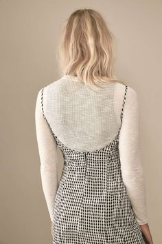rework by Urban Outfitters Gingham Slip Dress