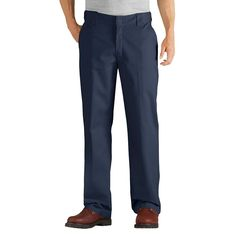 Dickies Men's Relaxed Straight Fit Comfort Waist Flex Twill Pant-