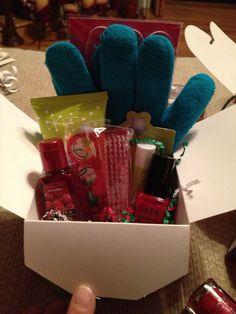 """Secretary """"Helping Hands"""" gift... (gloves, hand cream, nail polish, nail file, nail brush, antibacterial gel)"""