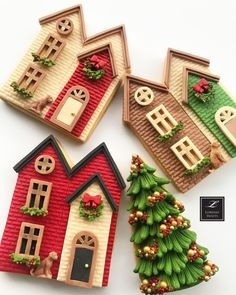 No photo description available. Vintage Christmas Ornaments, Christmas Goodies, Christmas Treats, Christmas Baking, Christmas Time, Christmas Mantles, Victorian Christmas, Christmas Christmas, Xmas