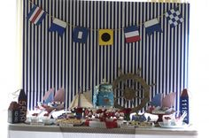a few ideas for nautical themed baby shower